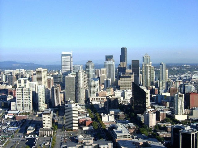 Seattle's Downtown from the Space Needle