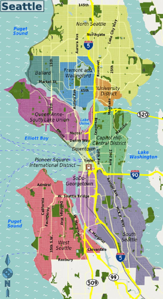 Seattle districts